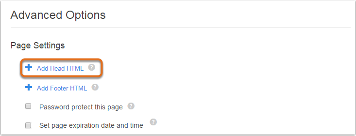 Agregar HTML de encabezado