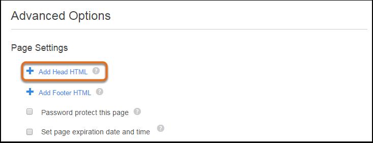 Add head HTML(Head HTMLを追加)