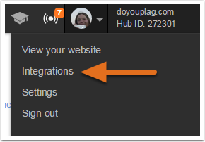 Navigate to Integrations