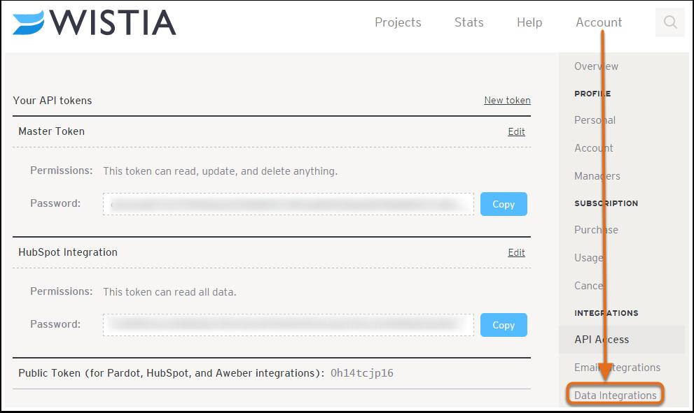 4. Configura HubSpot como proveedor de correo electrónico en Wistia.