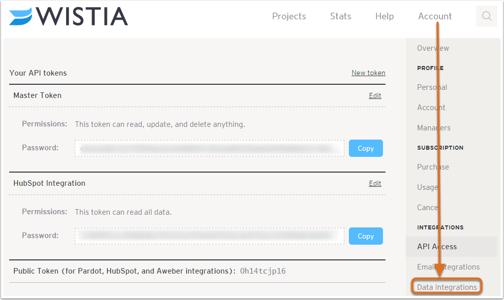 4. Set up HubSpot as an email provider in Wistia