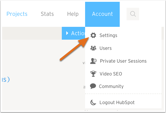 1. Go to your Account Dashboard in Wistia