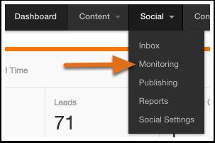 Navigate to Social Monitoring