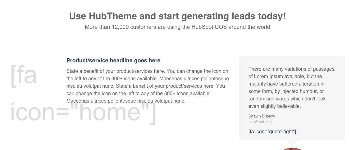Broken HubSpot Theme